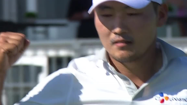 Sung Kang's 23-foot birdie putt on No. 15 at AT&T Byron Nelson