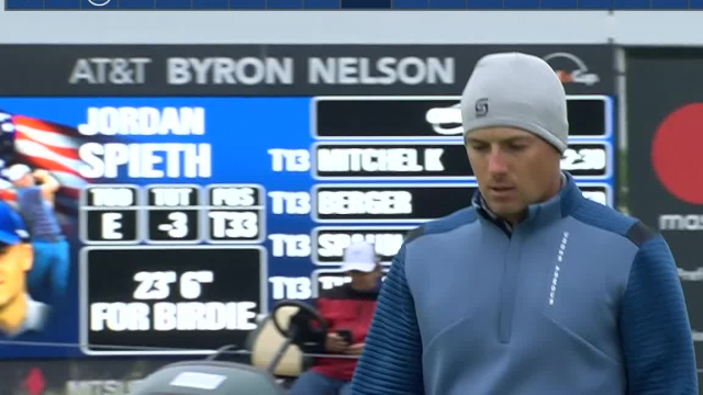Jordan Spieth jars 23-footer for birdie at AT&T Byron Nelson