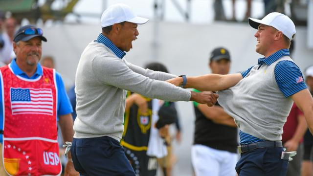 Tiger adds another historic stat, JT's T.O. moment and the U.S. celebrates its comeback victory