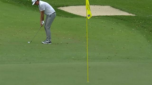Keegan Bradley's hole-out birdie chip shot at The Greenbrier