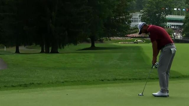 Marc Leishman sinks 18-footer for birdie at The Greenbrier