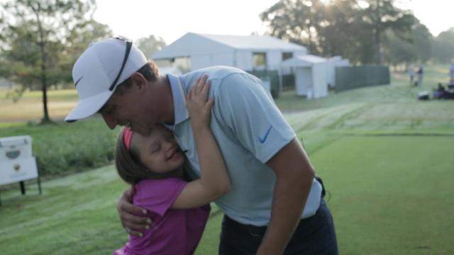 """Amazing Aubrey"" caddies for Cameron Champ at Sanderson Farms"