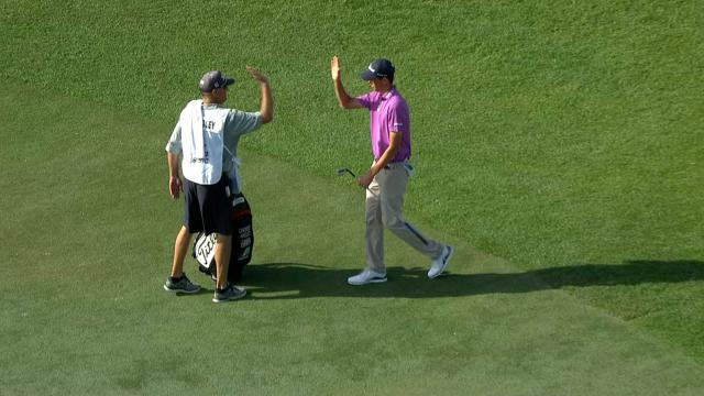 Today's Top Plays: Chesson Hadley's birdie chip in is the Shot of the Day