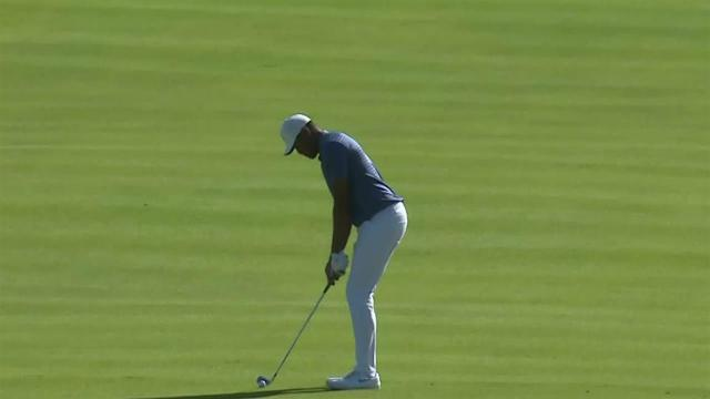 Tony Finau nearly holes out for eagle at Genesis