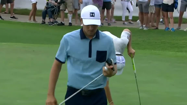 Jordan Spieth dials in tee shot to set up birdie at Charles Schwab