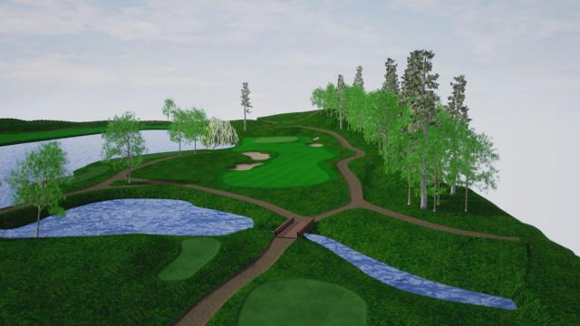 Travelers Championship hole overview at TPC River Highlands
