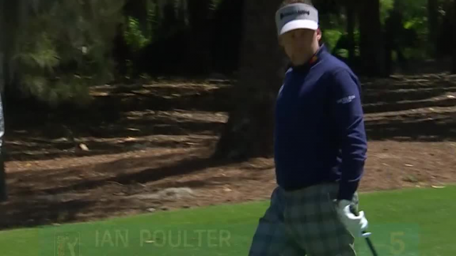 Ian Poulter holes chip shot on No. 6 at RBC Heritage
