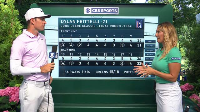 Dylan Frittelli's interview after winning John Deere