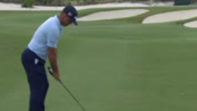Gary Woodland's solid approach sets up birdie at Hero