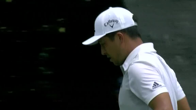 Xander Schauffele's tight tee shot yields birdie at Charles Schwab