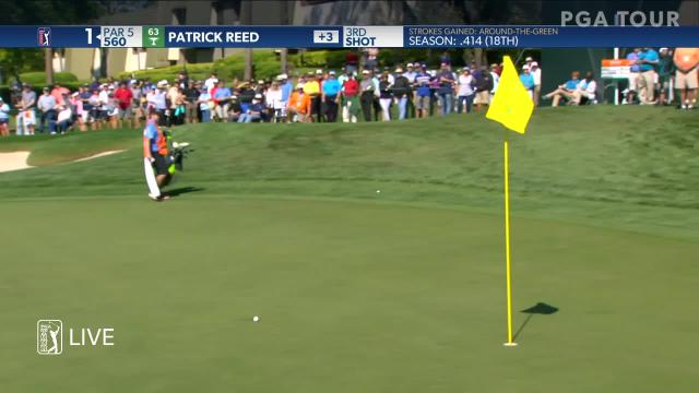 Patrick Reed gets up-and-down for birdie at Valspar
