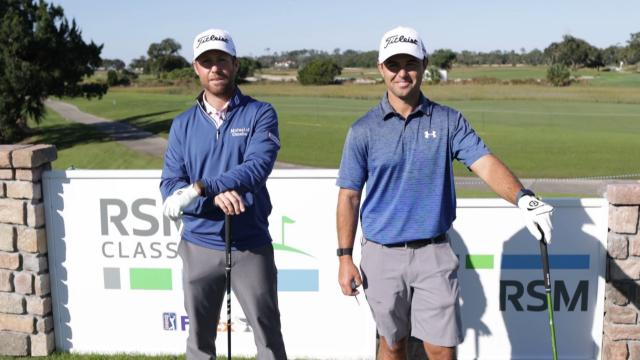One-club challenge with Tyler Duncan and his caddie at The RSM Classic
