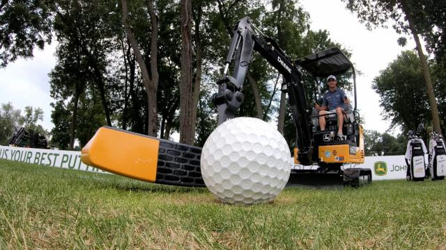 Excavator golf at John Deere