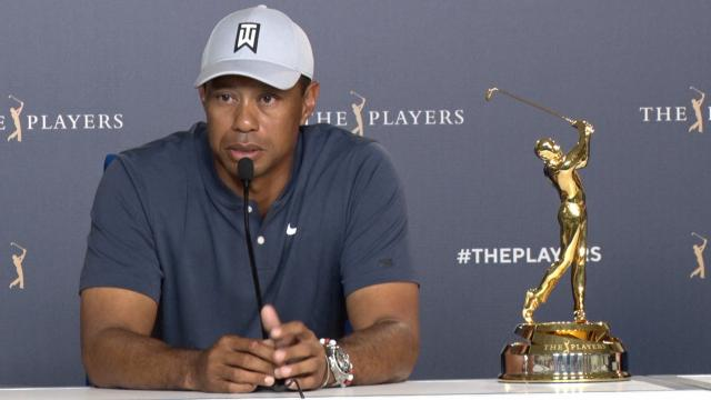 Tiger Woods discusses recent neck strain at THE PLAYERS