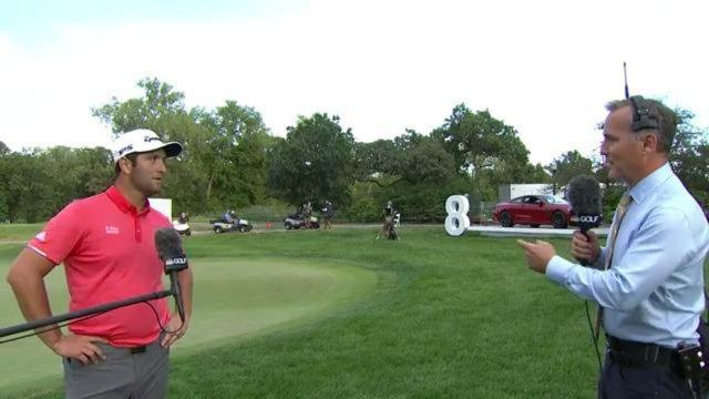 PGA TOUR   Jon Rahm's interview after winning BMW