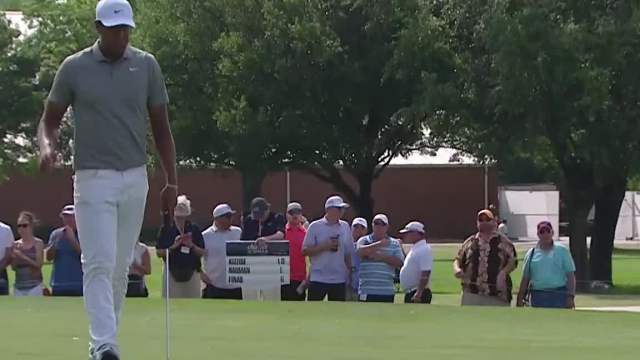 Tony Finau's 21-foot birdie putt on No. 6 at Charles Schwab