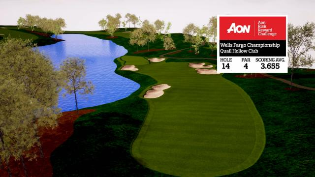 Wells Fargo Championship hole overview at Quail Hollow Club