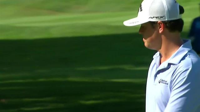 Cody Gribble's 22-foot birdie putt on No. 6 at Barbasol