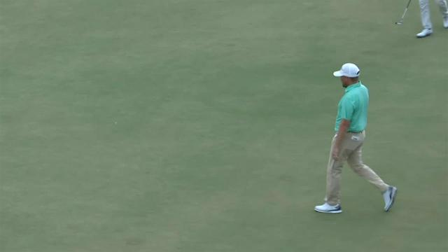 Zac Blair's birdie putt from the fringe at Arnold Palmer