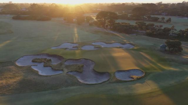 Aerial views of Royal Melbourne Golf Club