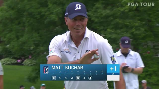 Matt Kuchar gets up-and-down for birdie at the Memorial