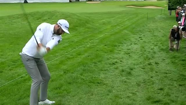 Dustin Johnson's chip to 10 feet leads to birdie at RBC Canadian