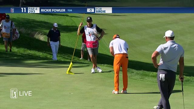 PGA TOUR | Rickie Fowler makes birdie on No. 11 in Round 4 at THE CJ CUP