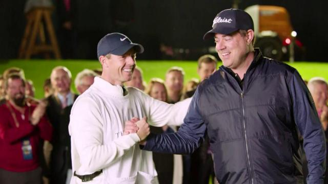 Rory McIlroy and Carson Daly play night golf at TPC Sawgrass