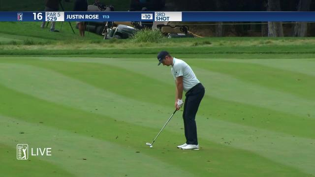 Justin Rose dials in approach to set up birdie at ZOZO