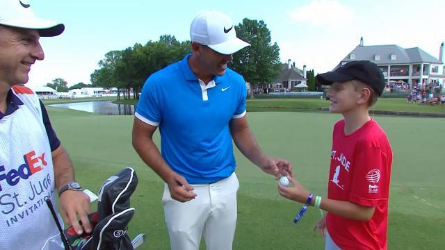 Brooks Koepka meets St. Jude's patient after win