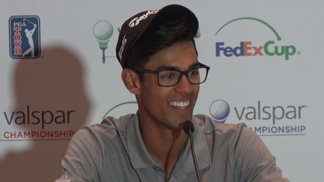 Akshay Bhatia looks ahead before Valspar