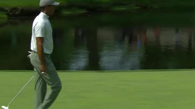 Tiger Woods' fantastic approach leads to birdie at the Memorial