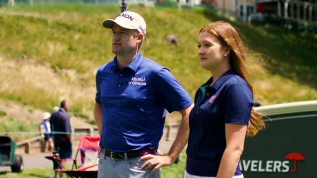 Russell Knox walk-and-talk at Travelers