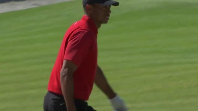 Tiger Woods' bunker hole-out birdie on No. 17 at Genesis