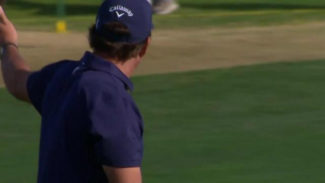 Phil Mickelson's impressive second yields eagle at The American Express