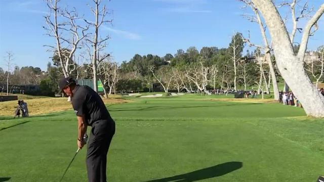 Phil Mickelson's tight tee shot leads to birdie at Genesis