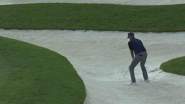 Brendon Todd holes bunker shot to save par at Houston Open