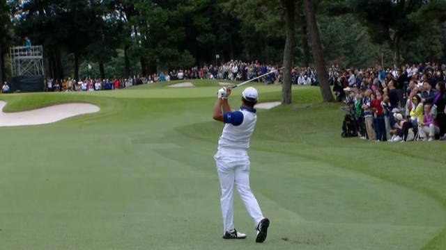Hideki Matsuyama's solid approach sets up short birdie at ZOZO
