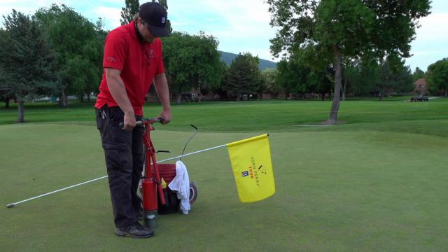 Korn Ferry Tour Rules Official sets up the course at Utah Championship