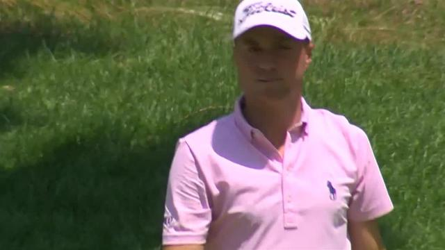 Justin Thomas nearly holes out to set up birdie at Travelers