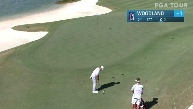 Gary Woodland chips in for birdie at Hero