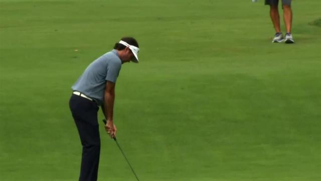 Bubba Watson's hole-out eagle approach at The Greenbrier