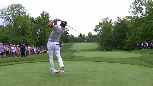Leaders in driving from the Memorial Tournament