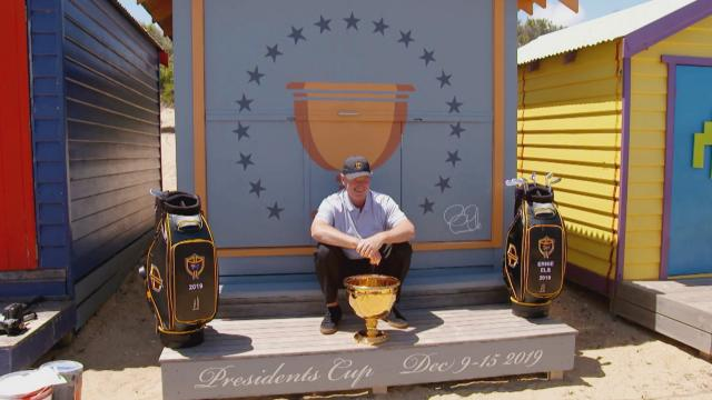 Ernie Els visits Australia ahead of Presidents Cup