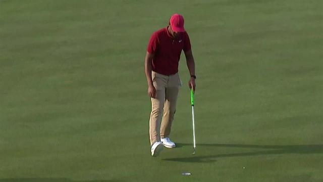 Tony Finau uses nice tee shot to set up birdie at The American Express
