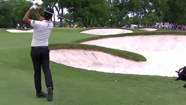 Kevin Na's solid approach yields 6-foot birdie putt at Charles Schwab