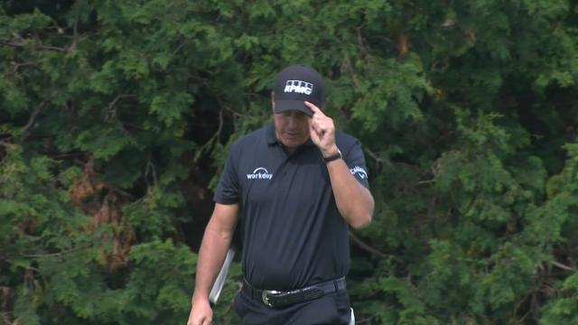 Phil Mickelson nearly holes out for eagle at THE CJ CUP