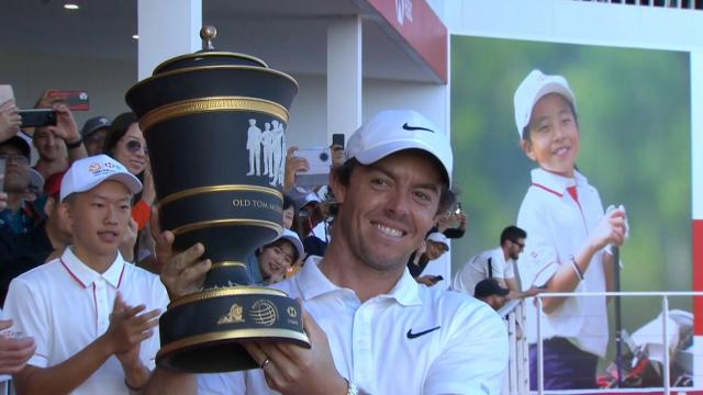 Rory McIlroy wins after defeating Xander Schauffele in a playoff hole at WGC-HSBC Champions