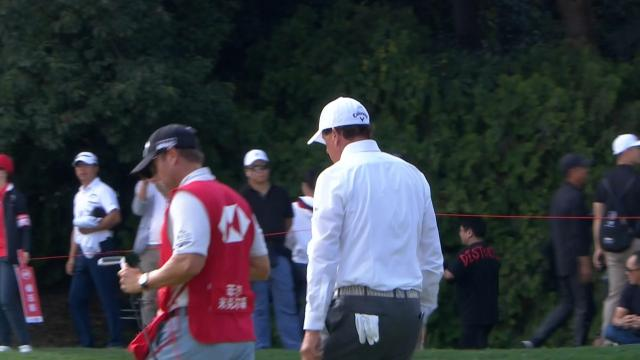 Phil Mickelson's solid tee shot at WGC-HSBC Champions