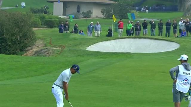 Rickie Fowler uses nice approach to set up birdie at Farmers